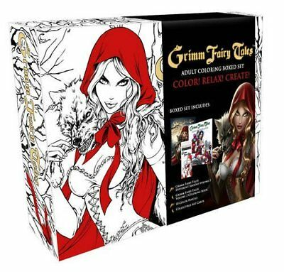 Zenescope Grimm Fairy Tales SEXY Adult Coloring Book Boxed Set GFT MINT Sealed