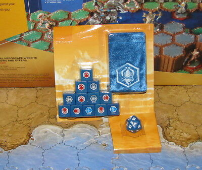 New unused sealed combat dices D20 bag Sir Gilbert Jandar Flag Bearer Heroscape
