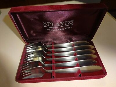 Boxed set of 6 SPLAYDS .18/8 stainless steel.