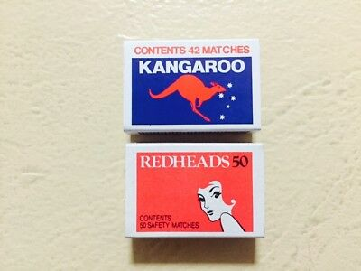 2 x Vintage Redhead and Kangaroo Match Box Safety Matches