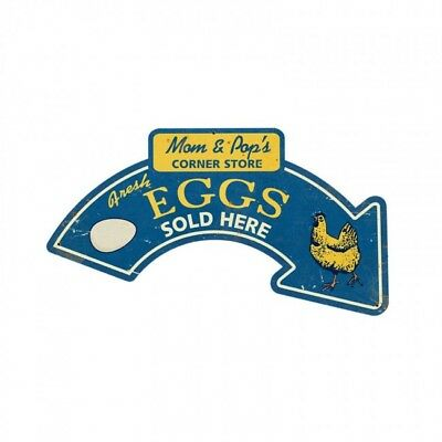 Fresh Eggs Sold Here Metal Sign Home Farm Country Kitchen Decor Rooster Chicken