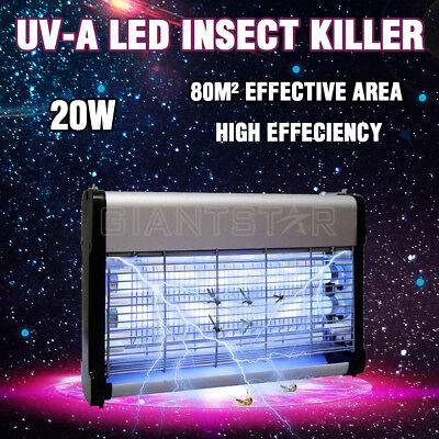20W Electric Insect Killer Mosquito Pest Fly Bug Zapper Catcher Trap UV-A Tube