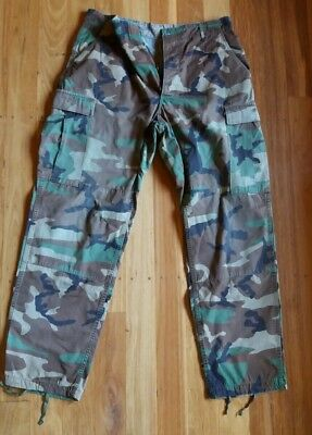 US Army Woodland BDU combat hunting pants trousers waist 31-35""