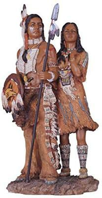 Native American Couple Collectible Indian Figurine Sculpture Statue Decor Gift