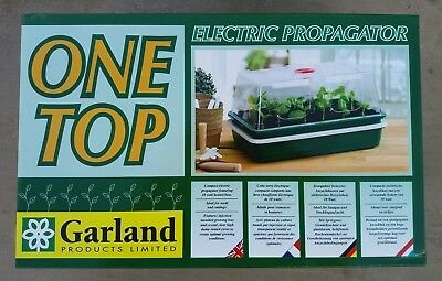 Garland Heated Propagator Plant & Seed Greenhouse One Top 10W
