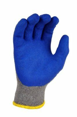 G & F 3100L-DZ Knit Work Gloves, Textured Rubber Latex Coated for
