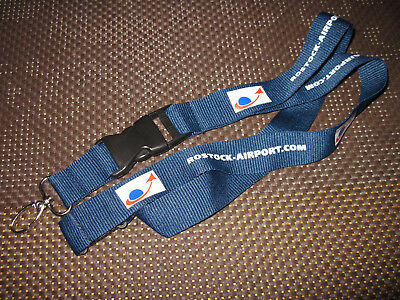 Schlüsselband Lanyard Rostock Airport .com Flughafen Airport  Airline Airlines