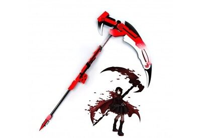 "53"" Rwby Scythe Ruby Crescent Rose the High Velocity Sniper Replica Wood Cosplay"