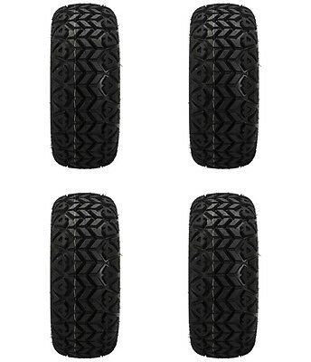 Set of 4 - 20x10-12 Black Trail All Terrain Golf Cart Tire-Free Shipping
