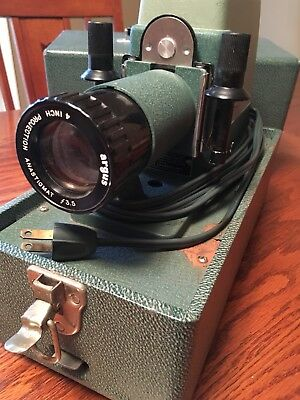 Argus 300 Slide Projector, Good Working Order with Film Strip Adapter