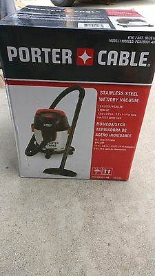 Brand New Porter Cable Stainless Steel Wet/Dry Vacuum 15.1 L 4 Gallon