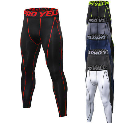 Men's Athletic Compression Tights Running Basketball Spandex Workout Base Layers