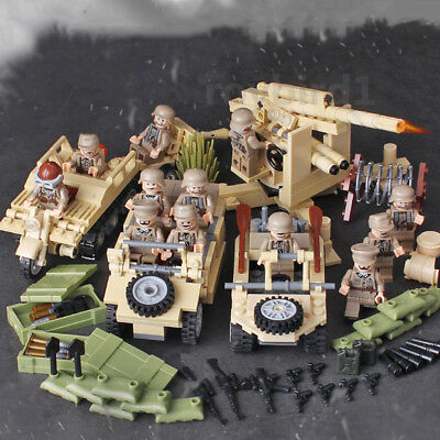 World War II Building Blocks North Africa German Armored Forces Military DIY Toy