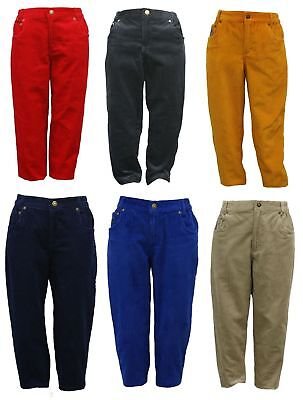Brand New Youth Kids Children Corduroy Trousers Pants ages 3-10 yrs,
