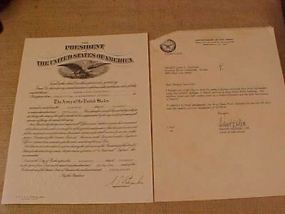 Wwii Dec 1941 Lt Col Promotion Document To Later 4 Star General / Nato Cmdr