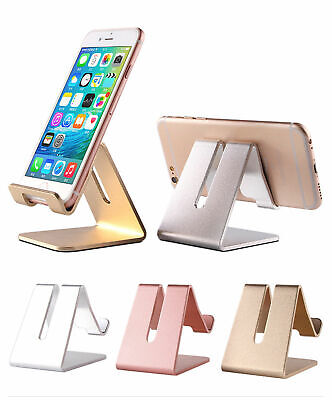 Cell Phone Table Desk Stand Holder Aluminum For Mobile Phone Tablet PC Universal