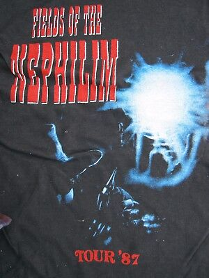 Fields Of The Nephilim1987 Blue Water Tour Unofficial Shirt
