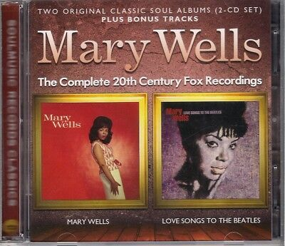 MARY WELLS - MARY WELLS/LOVE SONGS TO THE BEATLES - 2ORIG LPs+BONUS ON 2CDs MINT