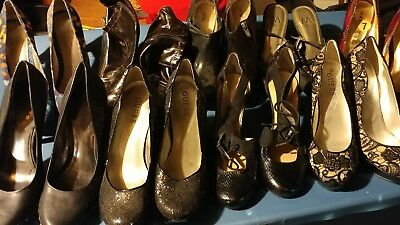 Lot of 9 Pairs of Ladies High Heels