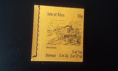 ISLE OF MAN 1973 10p DERBYHAVEN BOOKLET INVERTED PANES SB1
