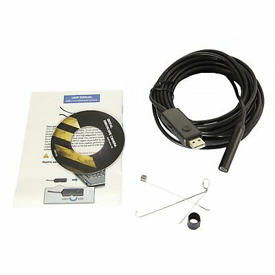 Pipe Inspection Camera USB Endoscope Video Sewer Drain 720P Waterproof 5M Cable