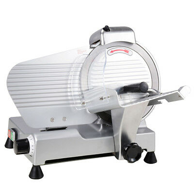 "Commercial 10"" Blade Electric Meat Slicer 240w 530RPM Deli Food Cheese Veggies"