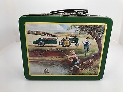 "vintage JOHN DEERE ""TURTLE TROUBLE"" METAL LUNCH BOX  ITEM# 22002"