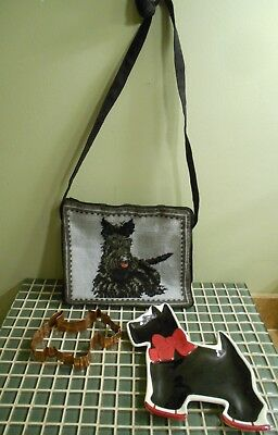 Scotty Scottish Terrier Scottie Dog Lot Purse Dish Cookie Cutter