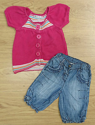 Baby Girls Next M&s Outfit Bundle Age 12-18 Months Top Jeans Joggers