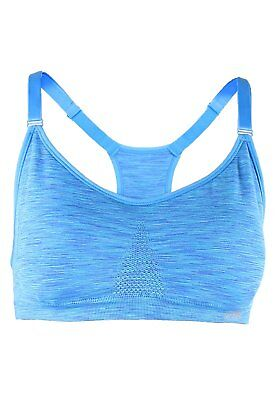 Marika donna bhs Tessa Seamless potenza Mesh Sports Bra, Blue Bolt Space Dye, m,
