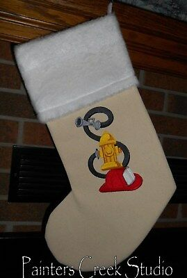 Firefighter Christmas Stocking.Stockings Christmas Current 1991 Now Holiday Seasonal