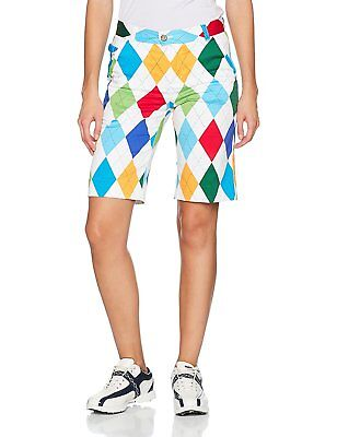 Royal & Awesome, Pantaloncini da golf donna, Multicolore, Taglia produttore UK 8