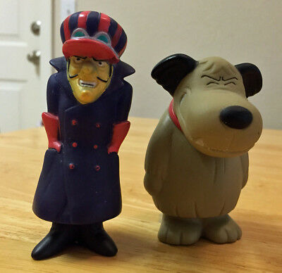 Lot of 2 Wacky Races Figures - Muttley and Dick Dastardly Japan Candy Premiums