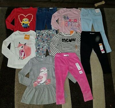 NWT Lot of Size 4T 4 Winter Clothes Outfits Gymboree kitty minions
