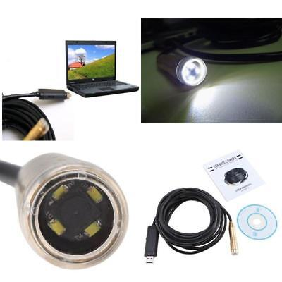 HD Plumber Aid LED Camera Sewer Inspection Drain Endoscope DIY Plumbing Cam 16'