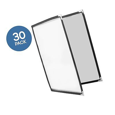 30 Pack of Menu Covers - Double Page 4 View Fits 8.5 x 11 Inch Paper - Restau...