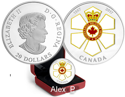 1 oz Silver Canadian Honours Collection: 50th Anniversary of the Order of Canada