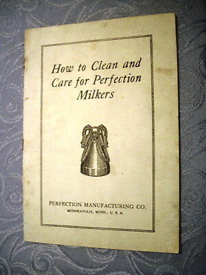 p25. How to Clean and Care for Perfection Milkers Brochure