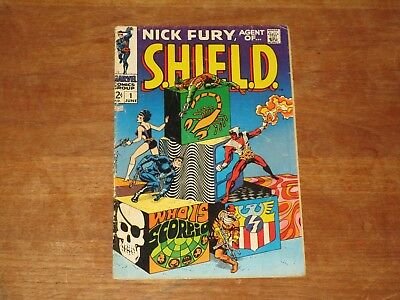 Nick Fury Agent Of Shield #1 Marvel Silver Age Jim Steranko Art Great Tv Show