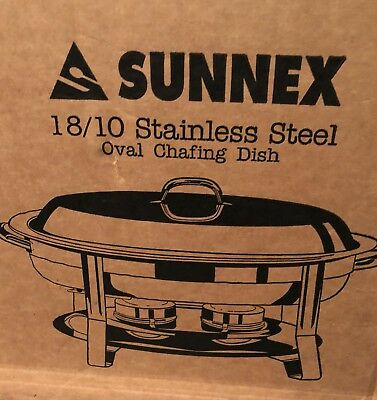 4.2 Quart 18/10 Stainless Steel Chaffing Buffet Dish Warmer Oval NEW