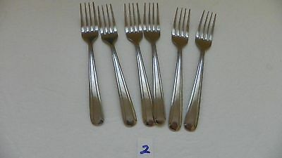 Set Of 6  Delco  Dominion Iii  Dinner Forks  Stainless