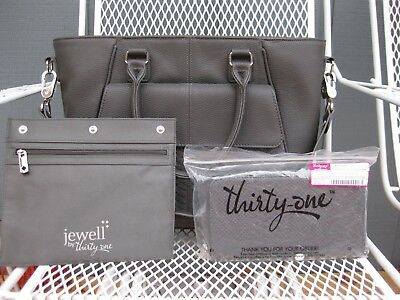 ~THIRTY ONE 'Diamond District' Purse, Wallet, Zip Pouch~City Charcoal Snake~NEW