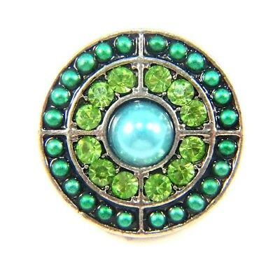 Noosa Style Chunks Ginger Snap On Jewellery Button Charms Green Blue Beaded 18mm