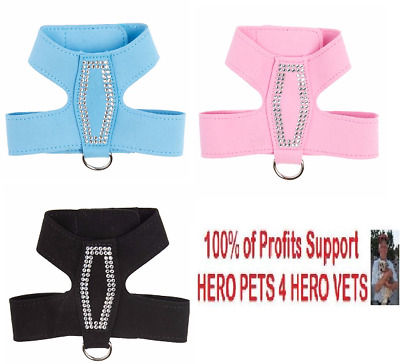 Top Paw Bling Butterfly Harness OR Collar Jewel Pink Black Blue XXS XS