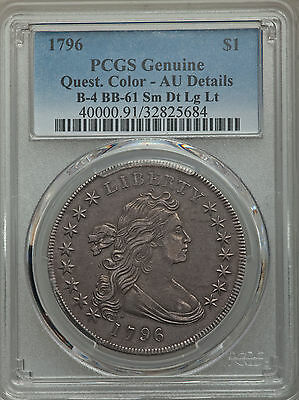 1796 Draped Bust Dollar, Pcgs Au Details, B-4,bb61, Rarity-3, Low Mintage!