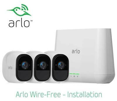 Netgear Arlo Pro 3 Wireless CCTV HD Camera Surveillance Security System-AU Stock