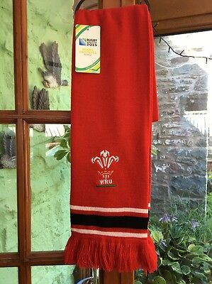 WALES Rugby Union 'rugby Originals' WORLD Cup Collection 2015 Scarf, BNWT