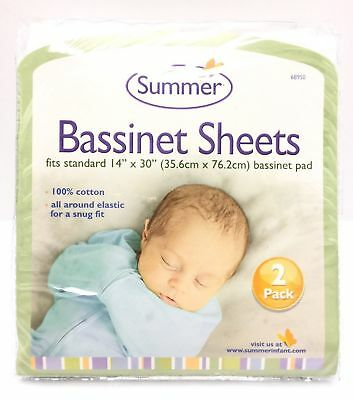 Summer Bassinet Sheets 2 Pack New Free Shipping