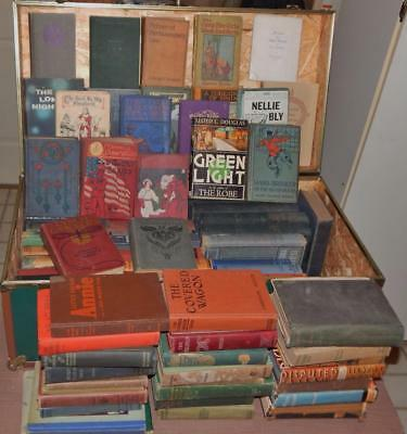 Lot Of 10 Antique Vintage Hardcover Books Unsorted Mixed