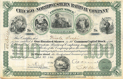 Chicago and Northwestern Railway Company > 1940 Illinois stock certificate share